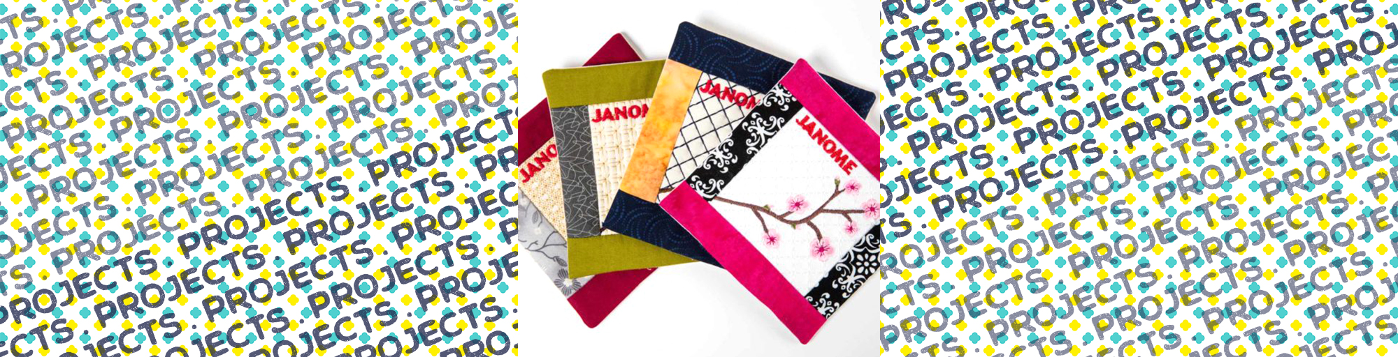 janome sewing project coasters